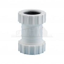 "Compression Waste White 1.25"" Straight Coupling"