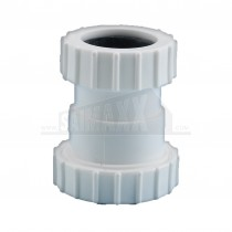 "Compression Waste White 1.5""x1.25"" Reducer (Spigot to Tail)"