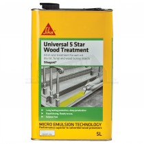 Sika Universal 5 Star Wood Treatment 5L Clear