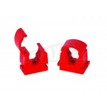 15mm Talon RED Hot Indentification Hinged Pipe Clip 20pc Pack