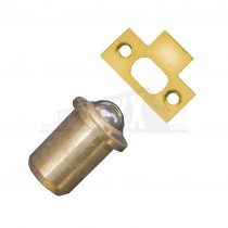 """Single Ball Catches 1/2"""" Brassed 5pk"""