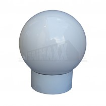 Bathroom Globe Light - White Opal Glass 60w