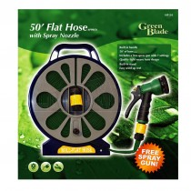 Green Blade 50' Flat Hose with Spray Nozzle