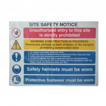 Site Safety Sign Notice 800 x 600mm