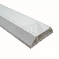 Dietzel Skirting Trunking CHAMFERRED 3m (3 Compartment) White PVC