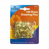 Ashley 100pc Brass Drawing Pins Pack
