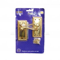 Georgian Brass Lever Scrolled Latch Door Handles Pair Carded