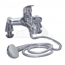 Rio Single Lever Bath Shower Mixer c/w Hose, Head & Bracket