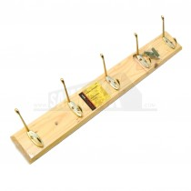 Ashley 5 Hook Hat And Coat Rack Pine