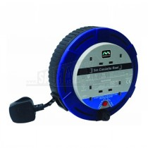 Masterplug 5m BLUE 10Amp Extension Reel with 4 Sockets SCT0510/4BL