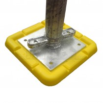 Base Pads YELLOW Square PLASTIC for Acrow Props