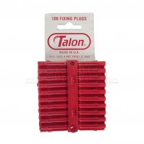 Talon Fixing Plugs RED 5 Strips of 20 (100pc) BAG