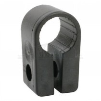 Cable CLEATS - Black Wire Clips (7.6mm Hole) 100pc Pack