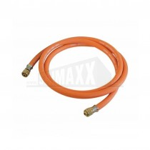 "Gas Hose (Suits Torches) 2m Fitted 10mm (3/8"") Female Left-Hand Threads"