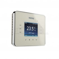 Warmup Programmable Digital Thermostat Energy Monitor 3iE Silver Grey