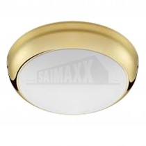 CFL IP65 Round 2D Light Fitting 16w BRASS BASE c/w Lamp