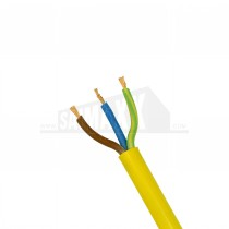 YELLOW Arctic Flexible 3 Core Cable 3183A - 1.5mm x 50m ROLL