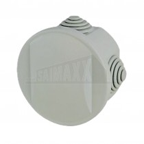 Round GREY Junction Box 70mm Diameter 40mm Deep c/w Knockouts