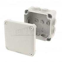 IP55 SQUARE GREY Junction Box 80x80x40mm c/w Knockouts