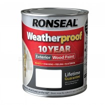 Ronseal WeatherProof 10 Year Exterior Wood GLOSS Paint 750ml BLACK