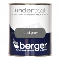 Berger Undercoat Paint Lead Grey 2.5L