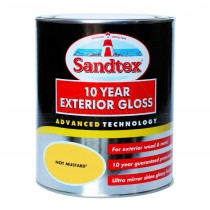 Sandtex 10 Year Exterior Gloss HOT MUSTARD 750ml