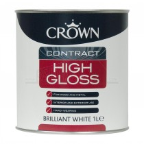 Crown Contract HIGH GLOSS Paint Brilliant White 2.5L
