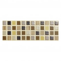 Willow Ceramic Wall Tile 248x80mm Brown Strip (6 per box)