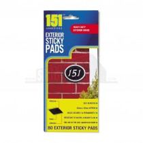151 Exterior Sticky Pads - 80 Pads 20mm x 20mm