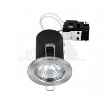 MiniSun FIRE Rated GU10 MAINS Downlight BRUSHED CHROME Fixed