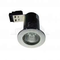 Eclipse Fire Rated SHOWER Downlight IP65 GU10 230v 50w SATIN CHROME