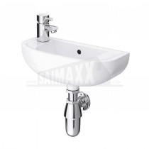 RAK Compact Slim Line Wall Mounted Hand Basin One Taphole on Right HandSide 45cm