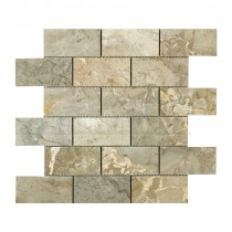 Elite Java Grey BRICK Mosaic Sheet 300x305mm