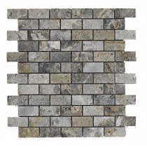 Lemon Marble (Grey 23x48mm) BRICK Mosaic Sheet 300x300mm