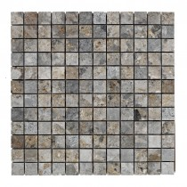 Lemon Marble (Grey 23x23mm) SQUARE Mosaic Sheet 300x300mm