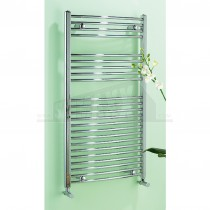 Chromed Towel Rail Curved - 1400 by 600mm