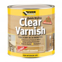 Everbuild Quick Drying Clear Varnish Gloss 2.5L