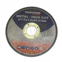 "TOOLPAK Metal/Inox Cut THIN Slitting Discs (4.5"") 115 x 1.0 x 22.2mm"