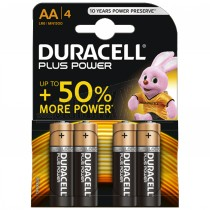 Duracell Plus Power Batteries 4pc AA