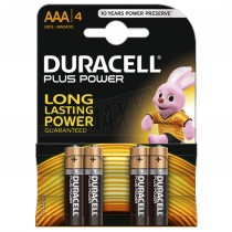Duracell Plus Power Batteries 4pc AAA