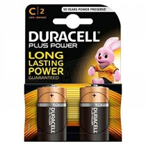 Duracell Plus Power Batteries 2pc C