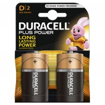 Duracell Plus Power Batteries 2pc D