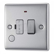 BG Nexus Brushed Steel Grey Inserts 13A Fused Switch Conn Neon Cable Outlet