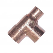 Endfeed Copper Reducing Tee (one end reduced) 22x15x22mm (L-2-R-2-C)