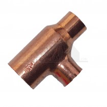 Endfeed Copper Reducing Tee (both ends reduced) 15x15x22mm (L-2-R-2-C)