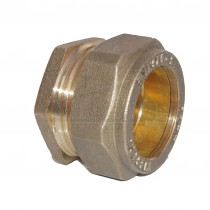 Compression Brass Stop End 15mm