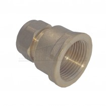 """Compression Brass Female Iron Coupling 15mm x 1/2"""""""