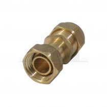 """Compression Straight Tap Connector 15mm x 1/2"""" Brass"""