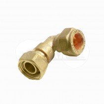 """Compression Bent Tap Connector 15mm x 1/2"""" Brass"""