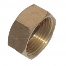 "Compression Brass Blank CAP (Nut) 1/2"""